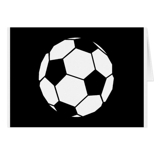 Black and White Football Greeting Card