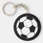 Black and White Football Key Chains