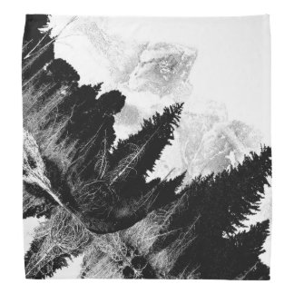 Black and White forest Bandanna