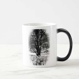Black and White forest. 11 Oz Magic Heat Color-Changing Coffee Mug