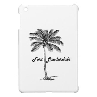 Black and White Fort Lauderdale & Palm design iPad Mini Cover