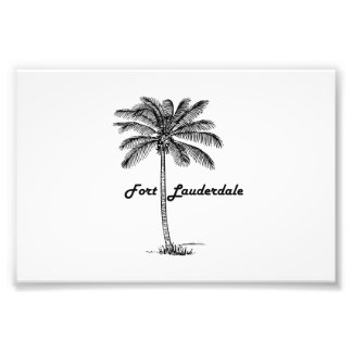 Black and White Fort Lauderdale & Palm design Photo Print