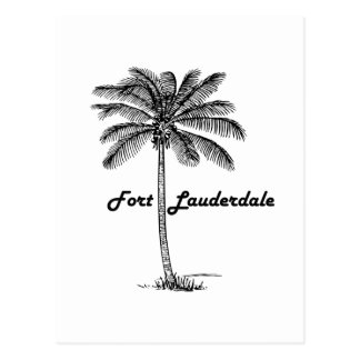 Black and White Fort Lauderdale & Palm design Postcard