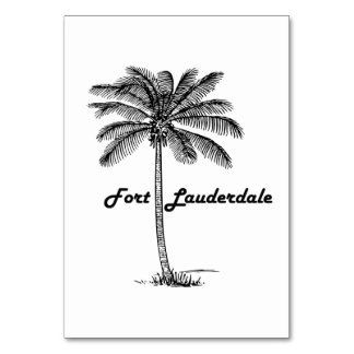 Black and White Fort Lauderdale & Palm design Table Cards