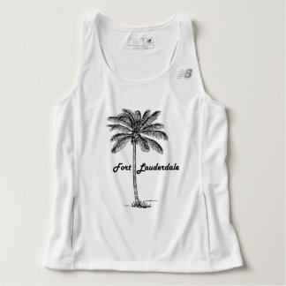 Black and White Fort Lauderdale & Palm design Tank Top