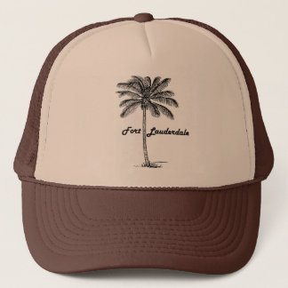 Black and White Fort Lauderdale & Palm design Trucker Hat