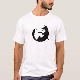 Black and White Fox Emblem Symbol T-Shirt