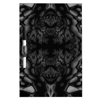 Black and White Fractal/Kaleidoscope Dry Erase Board