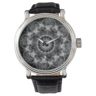 Black and white fractal watch