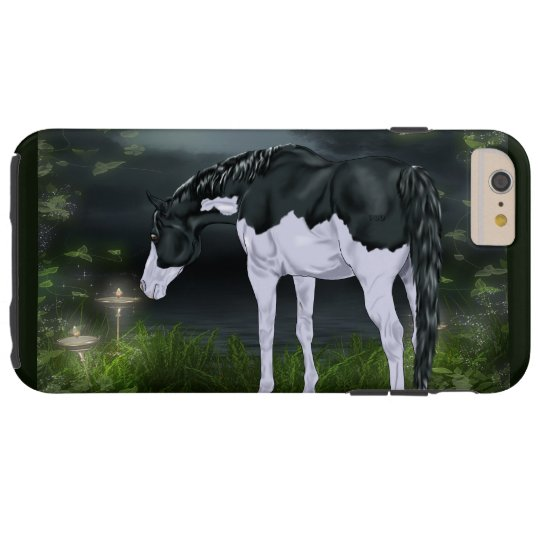 Black and White Frame Overo Paint Horse Tough iPhone 6 Plus Case