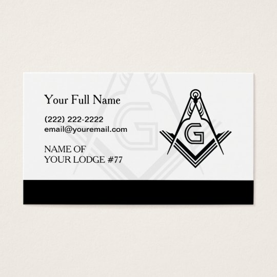 Black and White Freemason Business Cards