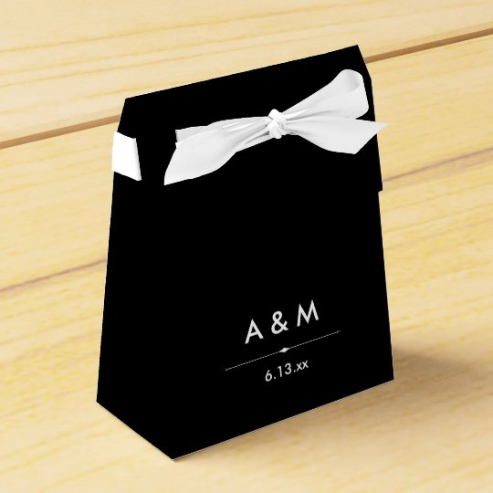 Black and White French Couture Inspired Wedding Favour