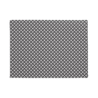 Black and White French Fleur De Lis Design Doormat