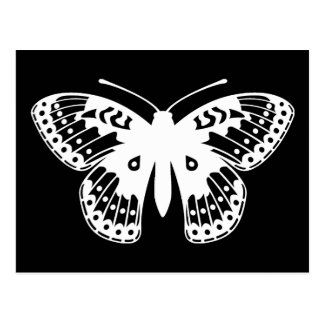 Black and White Fritillary Butterfly Print Postcard