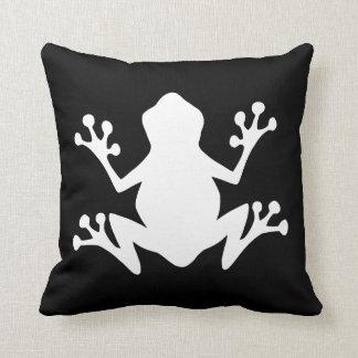 Black and White Frog Cushion