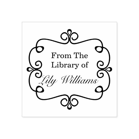 Black And White From The Library Of Bookplate