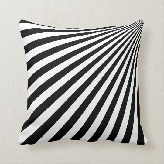 Black and White Funky Abstract Art - Pillow