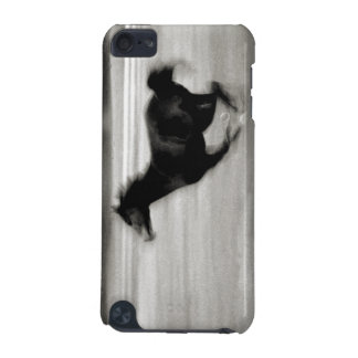 Black and White Galloping Horse iPod Touch 5G Cases