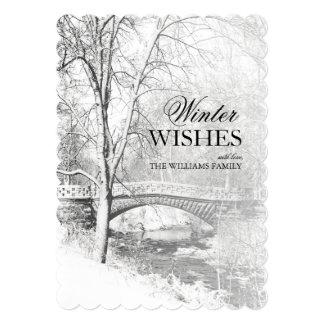 Black and White, Garfield Park, Indianapolis 13 Cm X 18 Cm Invitation Card