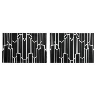 Black and White Geo Cascade Standard Pillow Cases
