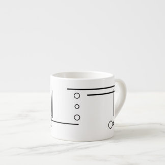 Black and White Geometric Abstract Espresso Mug