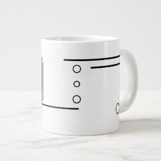Black and White Geometric Abstract Jumbo Mug