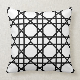 Black and White Geometric Chic Cushion
