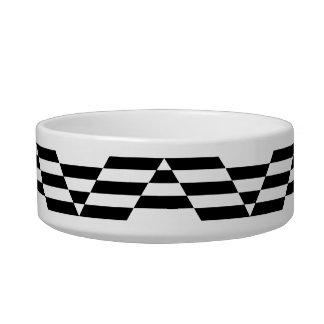 Black and White Geometric Graphic Pattern. Bowl