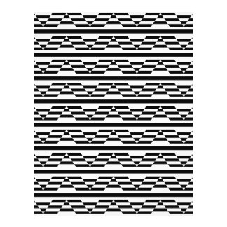 Black and White Geometric Graphic Pattern Flyers