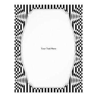 Black and White Geometric Illusion 003 21.5 Cm X 28 Cm Flyer