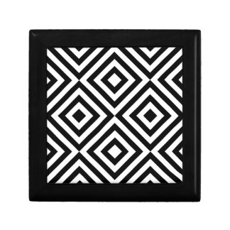 Black and White Geometric Line Pattern Gift Box