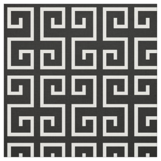 Black and White Geometric Pattern Fabric