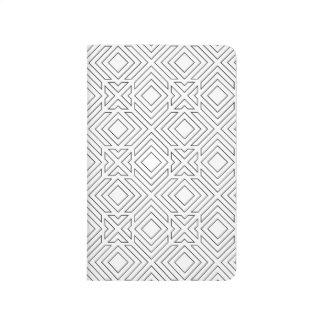Black and White Geometric Pattern Journal