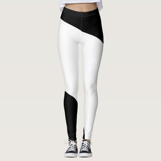 Black and White Geometric Pattern Leggings