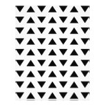 Black and White Geometric Pattern of Triangles. 21.5 Cm X 28 Cm Flyer