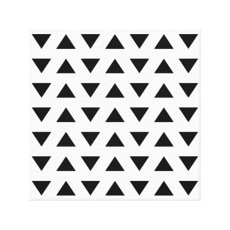 Black and White Geometric Pattern of Triangles. Canvas Print