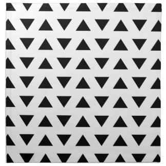 Black and White Geometric Pattern of Triangles. Napkin