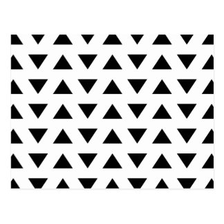 Black and White Geometric Pattern of Triangles. Postcard
