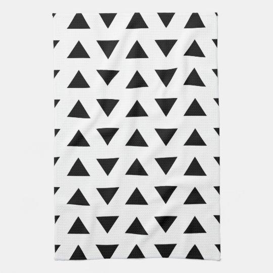 Black and White Geometric Pattern of Triangles. Tea