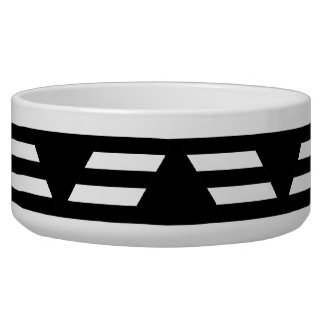 Black and White Geometric Pattern with Stripes.