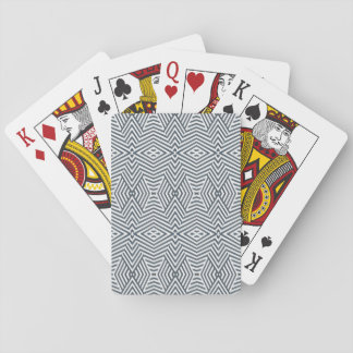 Black and white geometric playing cards