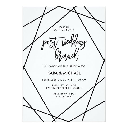 just married post wedding brunch invitation zazzle co uk