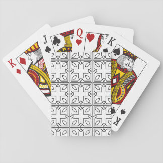 Black and White Geometric Squares and Shapes Playing Cards