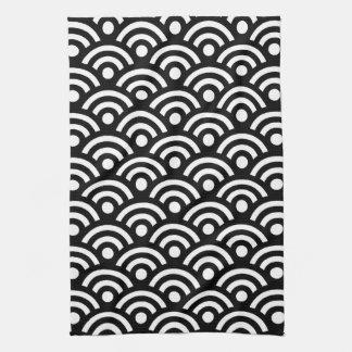 Black and White Geometric Tea Towel