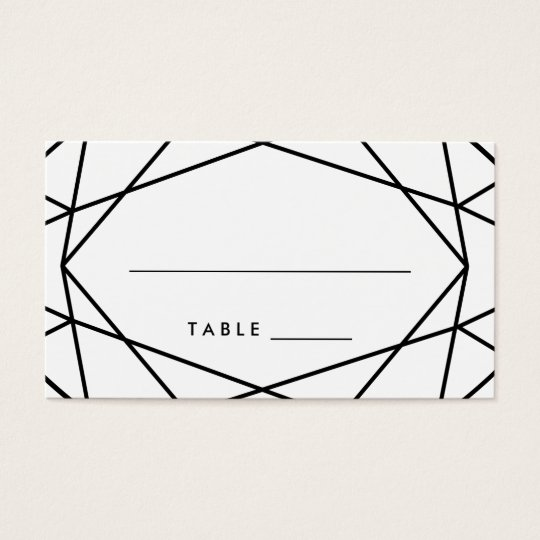 Black and White Geometric Wedding Escort Cards