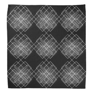 Black And White Geometrical Bandana