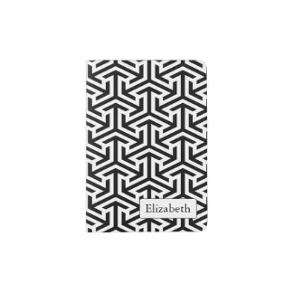 black and white geometrical pattern