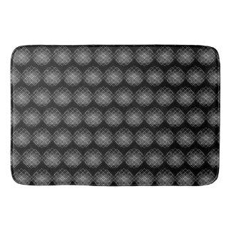 Black And White Geometrical Pattern Bath Mat