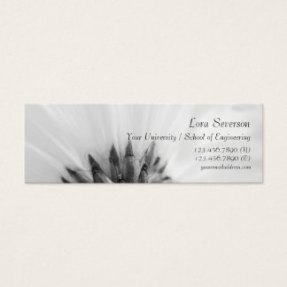 Black and White Gerber Daisy Graduate Mini Business Card