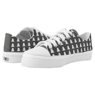 Black and White Ghosts Low Tops